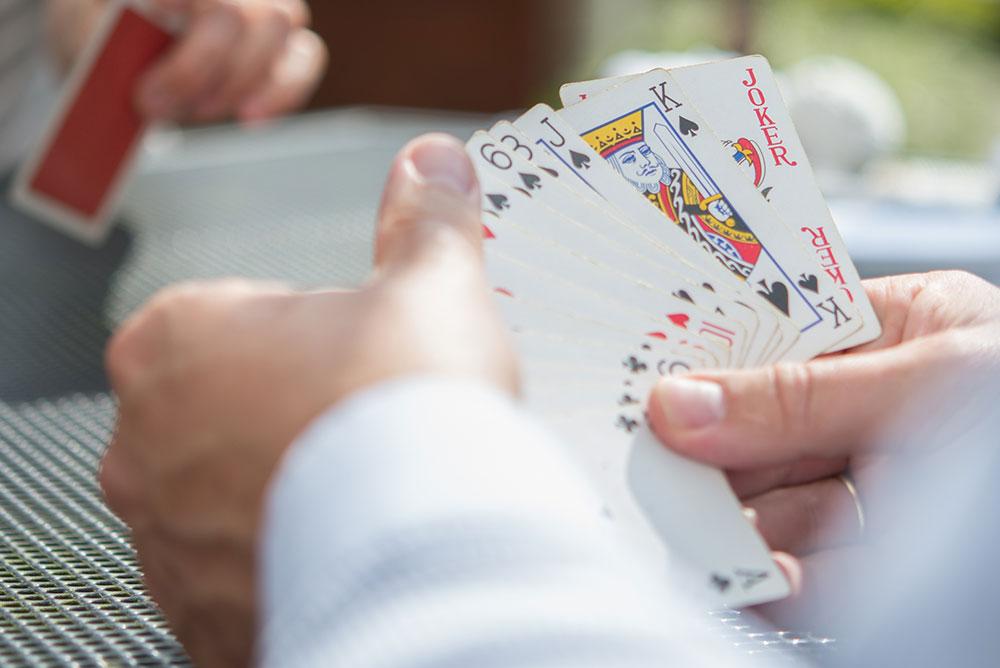Der Skat Zwei Karten